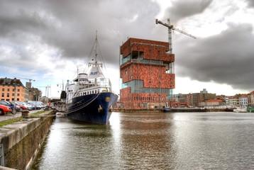 Photo sur Aluminium Antwerp Hafencity Antwerpen