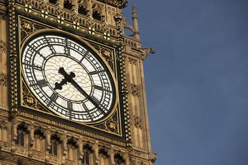 Intricate Clock Face Of Big Ben, London, England