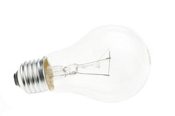Glühbirne isoliert auf weißem Hintergrund