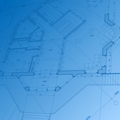 architecture blueprint: abstract house plan - vector background
