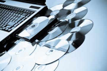 laptod and CDs