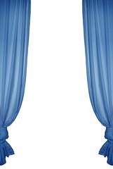 Blue isolated curtain