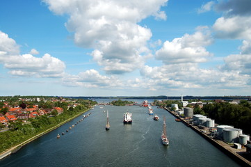 Self adhesive Wall Murals Channel Nord-Ostsee-Kanal