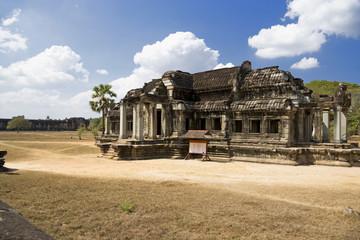 Fototapete - Angkor Wat's Library Building