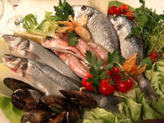 vassoio di pesce feresco
