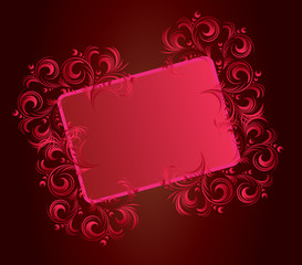 cadre vinrage tribaln rouge fluo