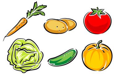 Fresh Vegetables - vector illustration