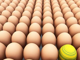 Easter Egg Amongst Eggs 4