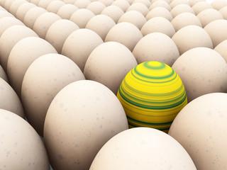 Easter Egg Amongst Eggs