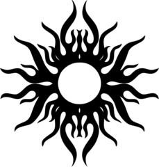 Sonne, Tribal Tattoo