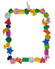 Wooden toy bead frame
