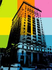 Abstract CITY Print Design Artwork