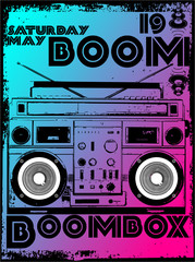 BOOMBOX MUSIC PRINT DESIGN ARTWORK