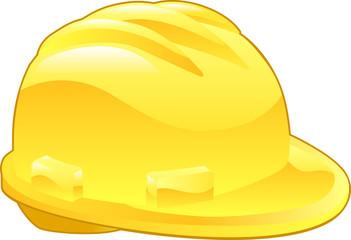 Shiny Yellow Hard Hat Illustration