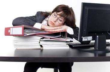 im büro eingeschlafen