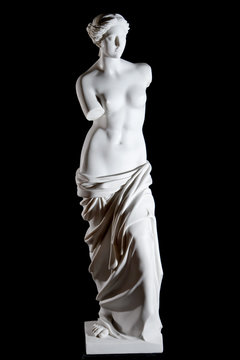 """White marble classic statue """"Aphrodite of Milos"""" isolated"""