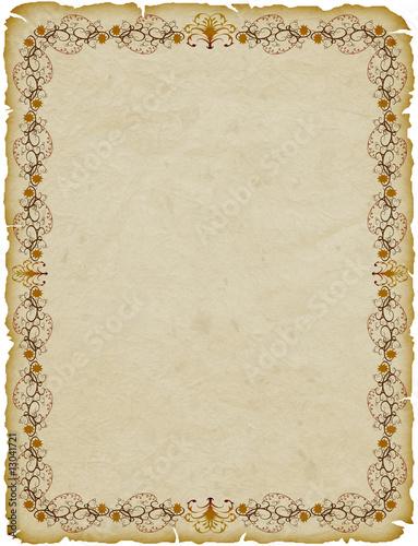 Pergamena Cornice Parchemin Cadre Parchment Frame Stock Photo And