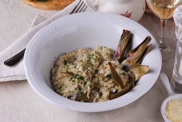 Risotto e carciofi - Primi piatti - Cucina vegetariana