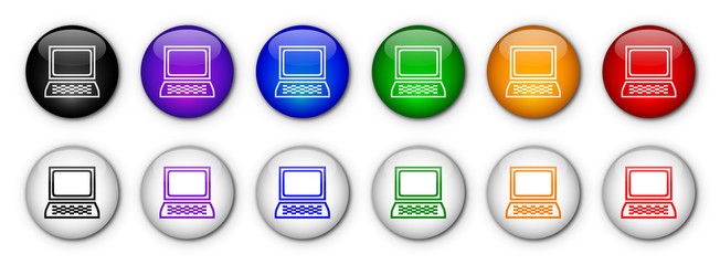 """Computer"" Buttons (x12 - various colours)"