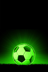 Soccerball with grass horizon line