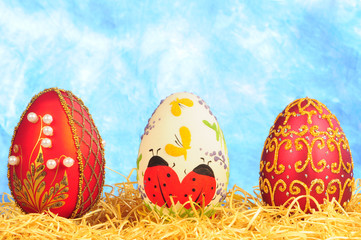 three luxury easter eggs