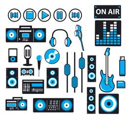 audio icons -