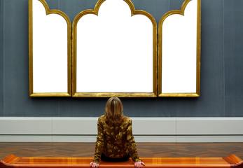 Vor dem Altarbild