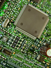 Macro image of circuit board