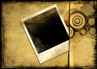 vintage background with polaroid frame