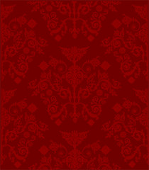 red curled symmetrical background