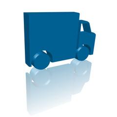 Livraison (Camion 3D avec reflet)