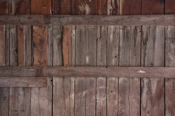 weathered wood of old barn wall