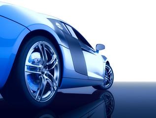 Modern sport car (3d render)
