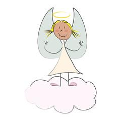 petit ange sur nuage
