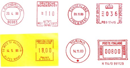 UK, Germany, France, Italy postmarks
