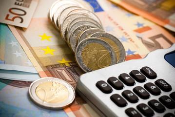 euro cash  - argent salaire liquide en euros et calculatrice