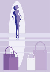 violet silhouette