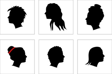 Illustration of attractive hairstyles