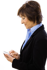 Businesswoman using mobile phone