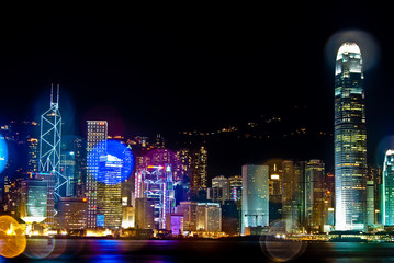 Night View in Hong Kong