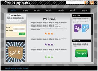 Web site interface v.13
