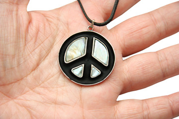 peace symbols on hand