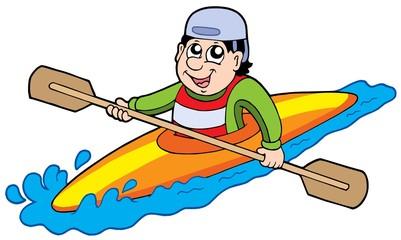 Cartoon kayaker