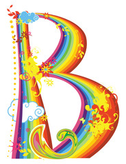 Rainbow letter for design