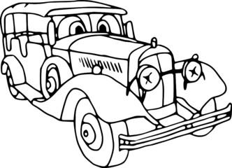 Vector - illustration veteran motor car