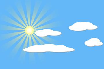 cielo sole nuvole vettoriale