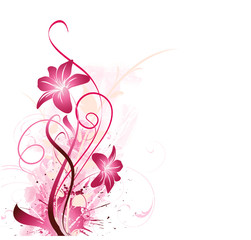 floral background in pink