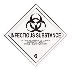 Infectious Substance Warning Label