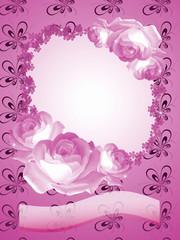 Rosenblütenhintergrund,Rahmen