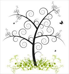 Kringel Baum Wiese Floral